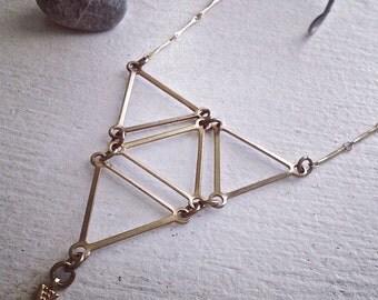 Prism Geometric Bib Style Statement Necklace