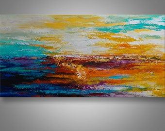 Abstract Painting, Acrylic Painting, Seascape Painting, Original Painting, Wall Decor, Wall Art, Painting, Art, abstract, art by Catalin