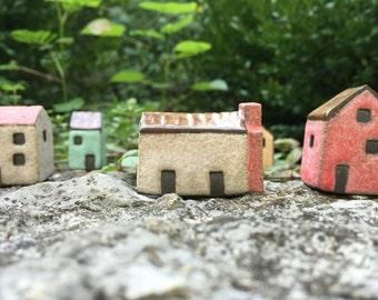 White Irish Cottage/Ceramic House/Tiny House