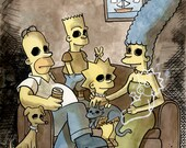 The Simpsons Family Death Portrait, 8.5 x 11 Print
