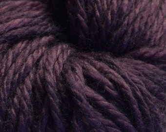 Merlot hand dyed Aran weight yarn MCN base
