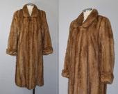 r e s e r v e d // John Pappas mink fur coat / vintage 1950s / 60s mink fur / full length mink coat