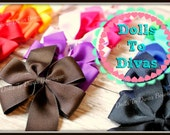 Pinwheel Hair Bows - Set of 8 - Your Color Choice - cute bows for girls - cute bows for baby - back to school girl hair bow