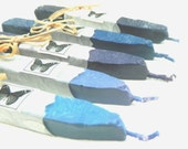 Natural Sealing  Wax 5 sticks SHADES of BLUE for stamp seal, ECO plastic-free non-toxic, gift-wrapped