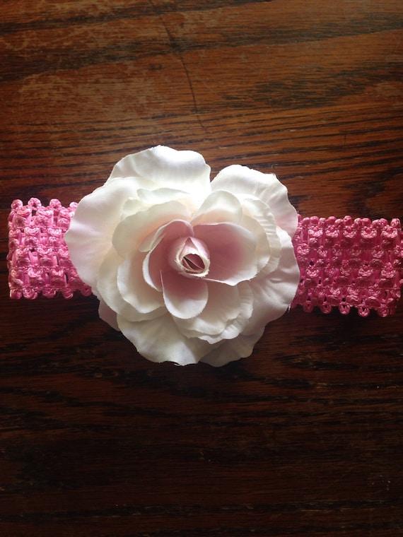 Baby/toddler Pink Flower Headband