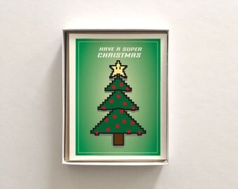 Video Game Star Boxed Set of 8 - Christmas Holiday Card
