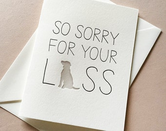 Letterpress Sympathy card- Dog Sympathy