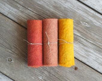 Wool Felt - 100 Percent Wool Felt - Waldorf - Craft Felt - Merino Wool Felt - Felt - Wool Felt Sheets -  Wool Felt Fabric - Pure Wool