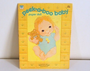 Paper Doll Book, Peek A Boo Baby, By Whitman