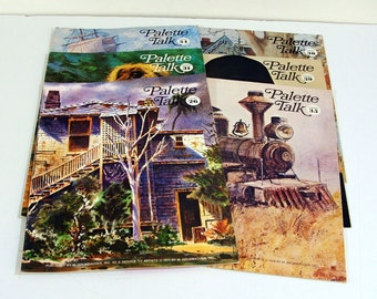 Palette Talk Magazines by Grumbacher Collection of 6 1970s Art Instruction and News