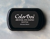 Black Stamp Pad (Wicked Black) // Archival ink // ColorBox