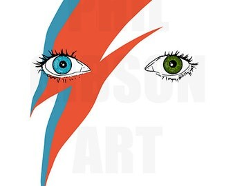 "Original ""Starman"" Giclée David Bowie Art Print Minimalist Music Poster"