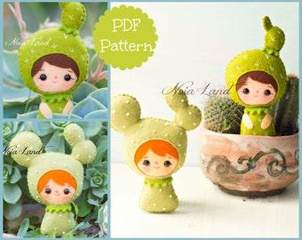 PDF Pattern. Cactus girls.
