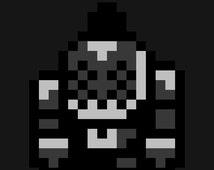 Instant Download - KINGDOM HEARTS Legend of Zelda-style Chibi Defender Heartless Perler Bead/Hama Sprite Pattern 1 - Pattern Only!