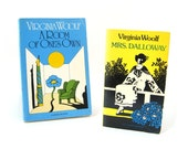 Vintage Virginia Woolf Book Collection • Mrs. Dalloway, A Room Of One's Own • 1950s Vintage Paperback Lot