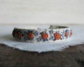 Autumn Floral Fabric Cuff Bracelet