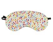 Rainbow Rain Sleep Mask, Colourful Night Accessory, Silk Relaxing Eyewear