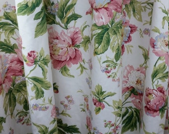 Waverly forever yours twill spring, lined drapes, waverly curtains, duvet cover, Euro shams, toss pillows