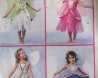 McCalls M4887 Little Girls Fairy Costume Pattern Size 2-3-4-5 Uncut Sewing Pattern 2005