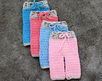 Newborn Crochet Pants