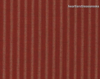 Primitive Dunroven House H-37 Homespun Red Stripe Fabric