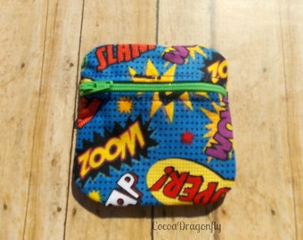 Comic Book Words Coin Purse, Ear Bud Case *SALE*