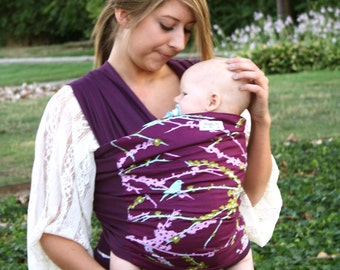 Baby Carrier Hybrid Stretch Wrap - Sparrow - Front & Back Carries- Instructional DVD Included - Fast Shipping