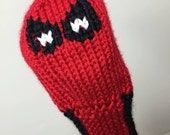 Deadpool, Golf Club Cover, Golf Headcover, Golf Head Cover, Knit Golf Club Cover, Knitted Golf Headcovers, Gifts For Men