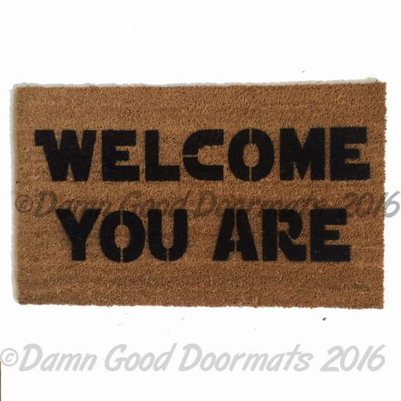 Welcome you are™ mat -sci fi novelty geek stuff fan art buzzfeed yoda