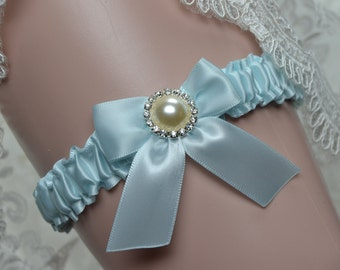 Wedding Toss Garter -Light Blue Toss Garter -Bridal Toss Garter