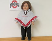 American Girl Dolls  5 Piece Scarlet & Gray Ohio State Fan Outfit