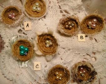 Bird Nest Embellishment-Hand Made