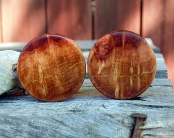 30mm Spectacular Redwood burl ear plugs, Hand crafted Organic Beautiful wood plugs in 30mm gauge