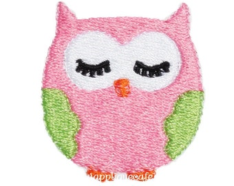 456 Mini Owl Machine Embroidery Design