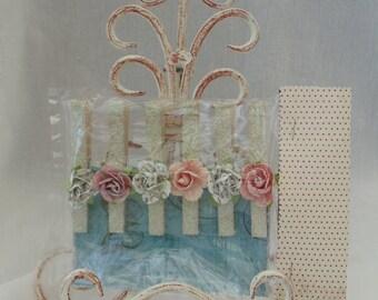 Glitter Rosebud Clips Clothespin Art Hangers