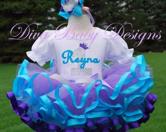 girls first birthday outfit aqua lavender purple and silver or gold under the sea mermaid dress 1st 2nd 3rd 4th 5th birthday