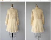 25% OFF SALE... Vintage 60s Dress | 60s Wedding Dress | 60s Lace Dress | Vintage 1960s Dress | 60s Party Dress | Cream Lace Party Dress