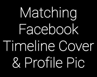 SALE 30% OFF Made To Match Facebook Timeline Cover & Profile Picture