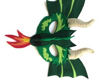 DRAGON Felt Animal Mask for Children