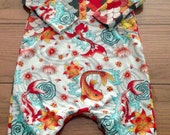 Size 12-18 months Koi fish and scales romper