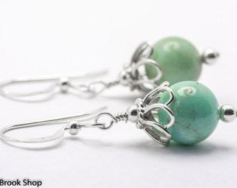 Amazonite Dreams Gemstone Sterling Silver Earrings