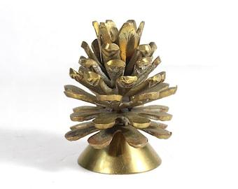 Vintage Brass Pinecone Candlestick Holder