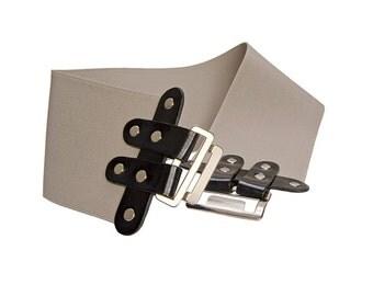 Wide rubber belt , Elastic waist belt , Leather Corset, Corset Belt , High waist belt , Dress belt , Fashion Belt- BOGO SALE