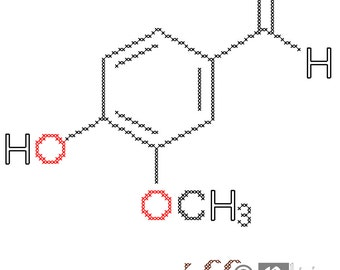 Vanilla Molecule Cross Stitch Pattern PDF