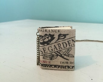 Rose Garden Blank Mini Book Necklace