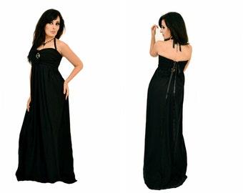 Black mesh  long dress  ,gothic styles, romantic, full , long dress