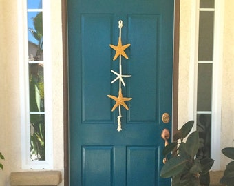 Beach Decor - Starfish Door Hanging - Beach Cottage - Nautical Decor - Star Fish