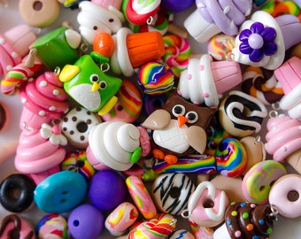 Grab Bag - Assorted Charms, Beads, Buttons, and more!