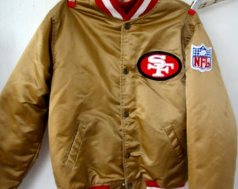 Vintage 1980's SAN FRANCISCO 49ers Puffy Gold Football Jacket