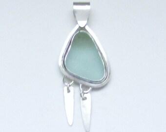 Sea Glass Jewelry - Sterling Scottish Sea Glass Pendant